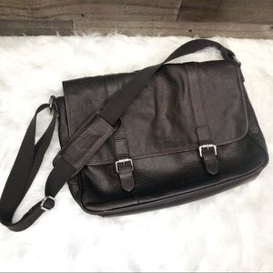 Cole Haan Brown Leather Messenger Bag